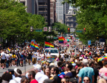 People march in the 2019 pride parade