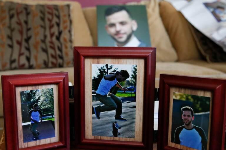 Framed photos of Tyler Cordeiro