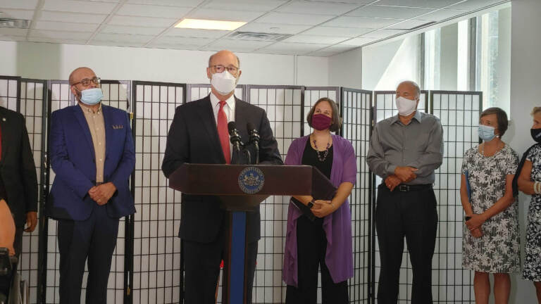 Pa. Governor Tom Wolf visits the Kensington neighborhood in Philadelphia, which he calls ground zero of the opioid crisis. (Tom MacDonald / WHYY)