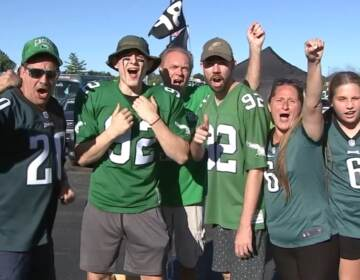 Eagles fans at tailgate