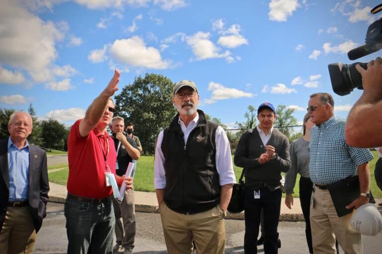 Gov. Tom Wolf comes to witness Hurricane Ida damage in PA