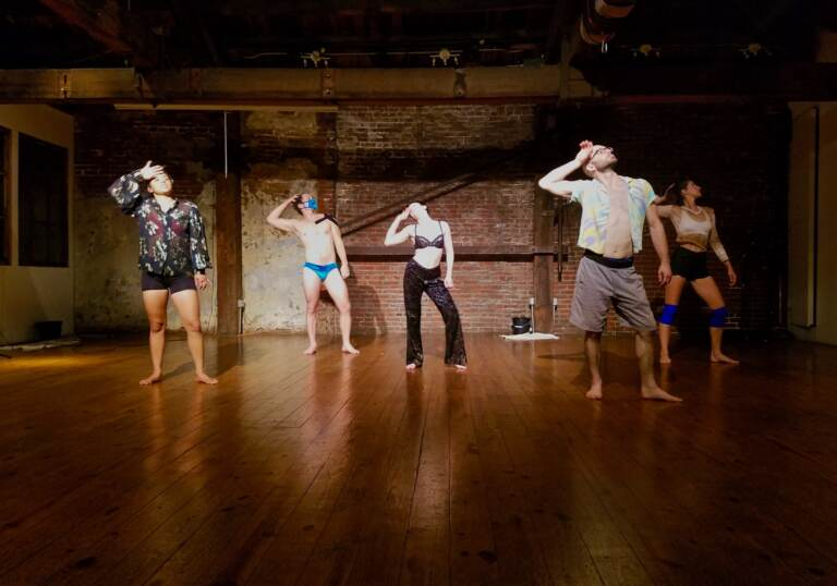 Dancers rehearse