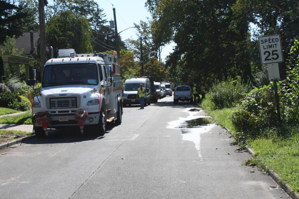 PSE&G crews stationed in Trenton's Island neighborhood