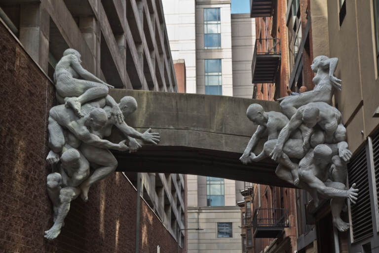 A sculpture at 13th and Cuthbert streets