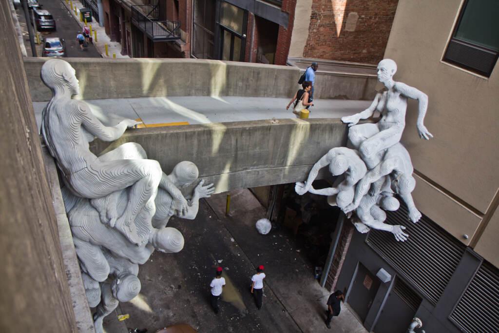 A closeup of a sculpture by artist Miguel Antonio Horn