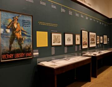 More than 100 objects dating from the early 1700s are displayed in the Library Company of Philadelphia's exhibit, ''Imperfect History,'' which examines the role of graphic arts in preserving and distorting history. (Emma Lee/WHYY)