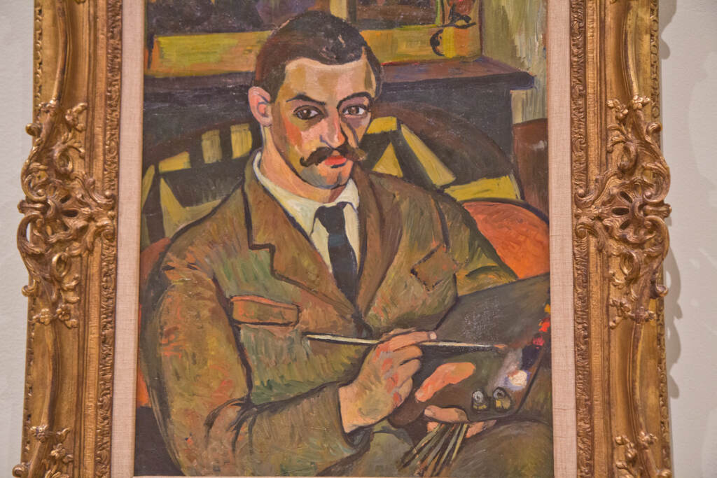 Valadon painted her son Maurice Utrillo, who would go on to be a more famous artist than his mother. Portrait of Maurice Utrillo, 1921 (insert).