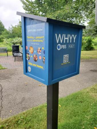 WHYY Little Libraries book stand