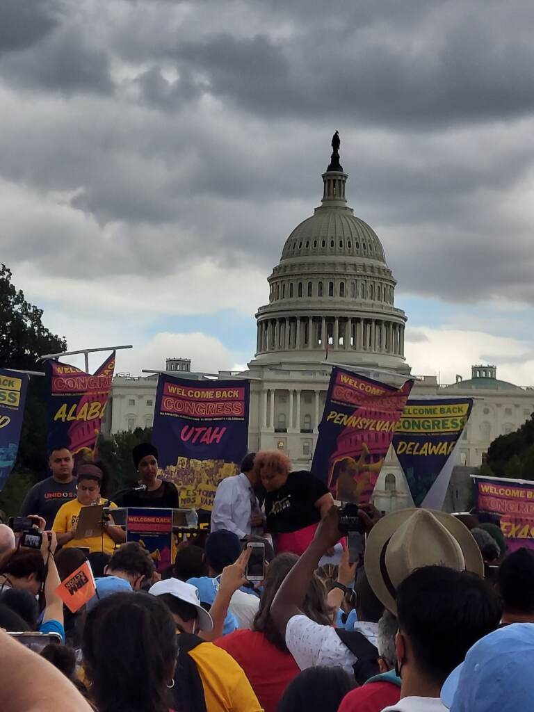 Group's from Pennsylvania and Delaware participated in Tuesday's march and rally in Washington