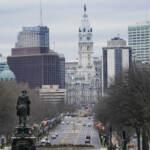 The Benjamin Franklin Parkway and City Hall in Philadelphia