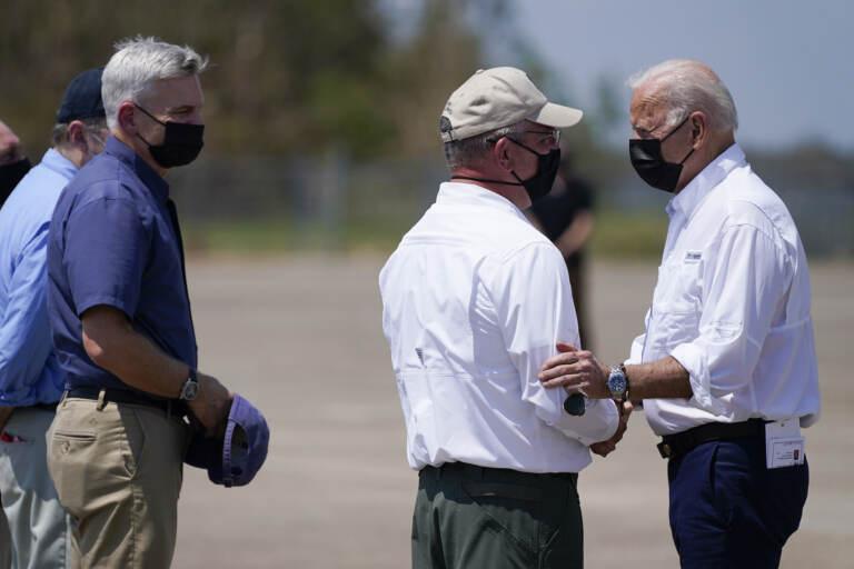 Biden visits states impacted by Hurricane Ida.