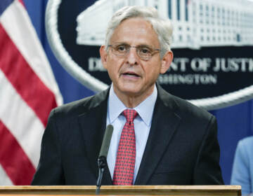 Attorney General Merrick Garland announces a lawsuit to block the enforcement of new Texas law that bans most abortions at the Justice Department in Washington, Thursday, Sept. 9, 2021