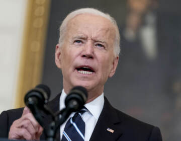 President Joe Biden speaks about his plan to stop the spread of the Delta variant and boost COVID-19 vaccinations in the State Dining Room at the White House in Washington, Thursday, Sept. 9, 2021.