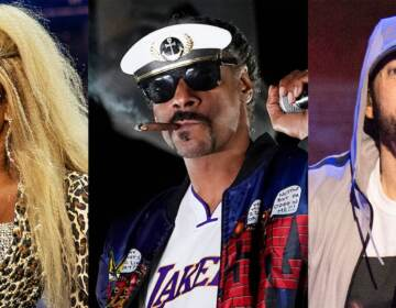 This combination of photos shows, from left, Kendrick Lamar, Mary J. Blige, Snoop Dogg, Eminem and Dr, Dre, who will perform for the first time together on stage at the 2022 Pepsi Super Bowl Halftime Show. NFL, Pepsi and Roc Nation announced Thursday that the five music icons will perform on Feb. 13 at SoFi Stadium in Inglewood, Calif.