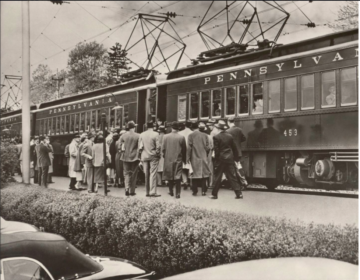 The Paoli Local railroad station as seen in an archival photograph.