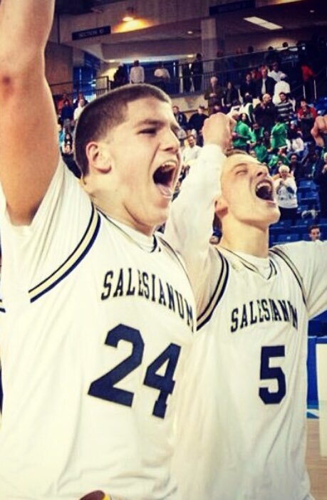 At Salesianum School in Wilmington, O'Neill (left) and Donte DiVincenzo led the team to the state basketball title. Both are now in the pros, albeit in different sports