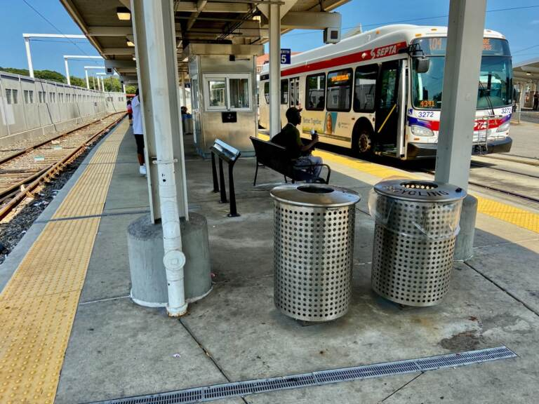 Standing vs Sitting bench at SEPTA's 69th Street Terminal (Courtesy of SEPTA)