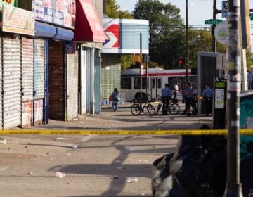 North Broad and Olney Avenue after six were shot nearby on September 20, 2021. (Kimberly Paynter/WHYY)