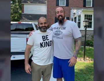 Amir Sidiqi and Kevin Haney reunited after Sidiqi fled Kabul. (Courtesy of Amir Sidiqi)