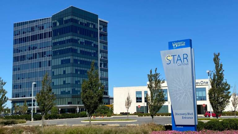 The University of Delaware's STAR Campus in Newark helps connect students, teachers and researchers with partners in commercial industry and the community. (Mark Eichmann/WHYY)