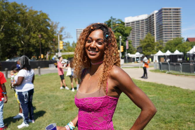 Joy Marshall, 32, flew all the way in from California for the Made in America festival