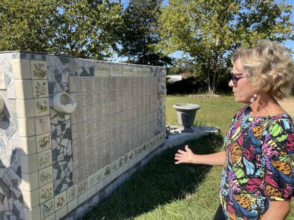 Kuehn at the memorial