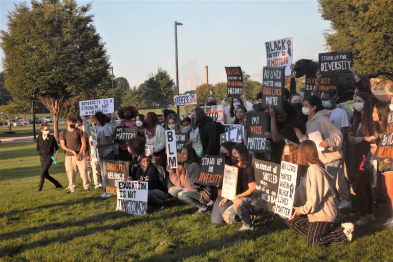 Students protest at school