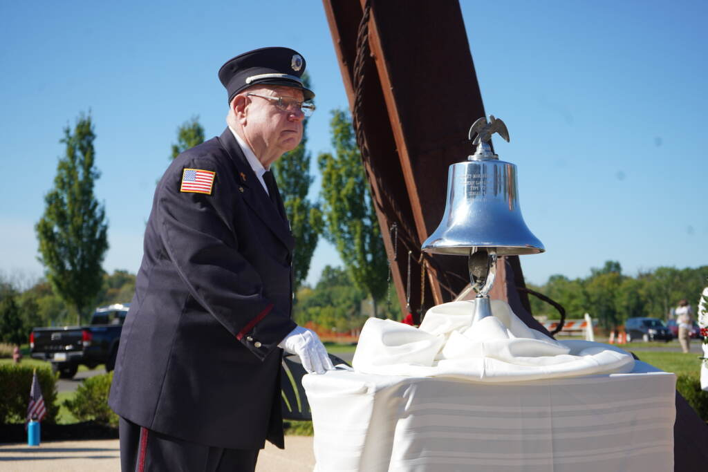 The bell was rung during moments of importance at the morning ceremony