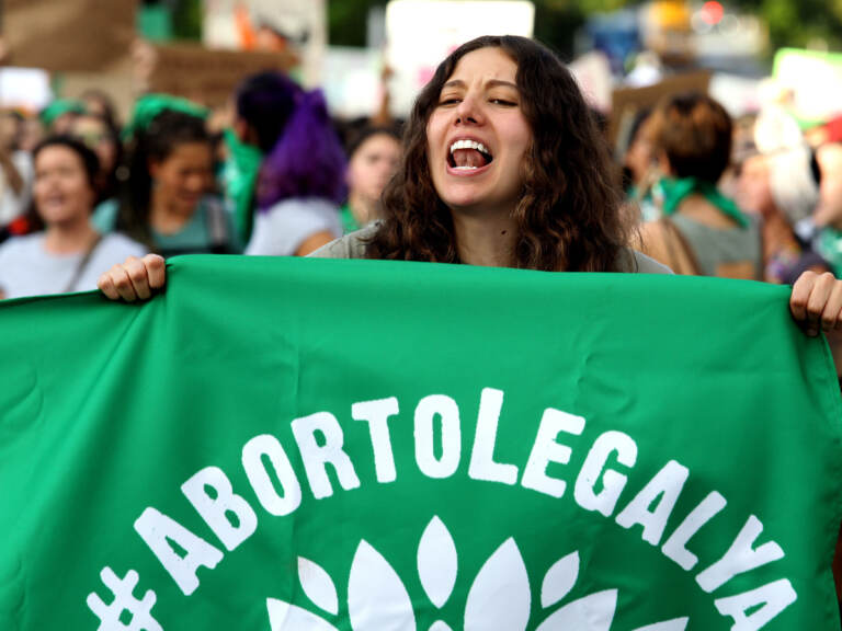 Activists supporting the decriminalization of abortion in Mexico march in Guadalajara, Mexico, on September 28, 2019. Mexico's Supreme Court has ruled that it is unconstitutional to punish abortion. (Ulises Ruiz/AFP via Getty Images)