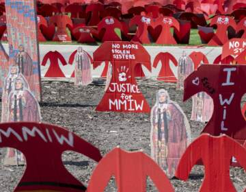 Memorial to missing and murdered Indigenous women in St. Paul, Minn. (UniversalImagesGroup/Universal Images Group via Getty_