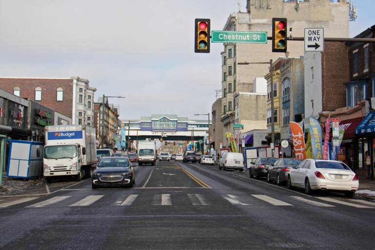 The 52nd Street commercial corridor in West Philadelphia. (Emma Lee/WHYY)
