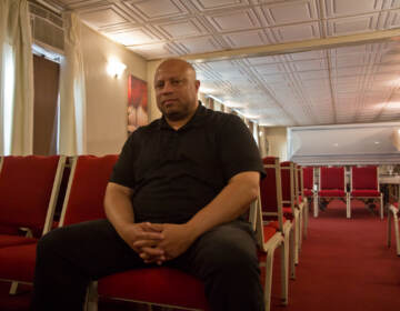 Michael Forrest is the director and owner of Forrest-Walker Funeral home in West Philadelphia. (Kimberly Paynter/WHYY)