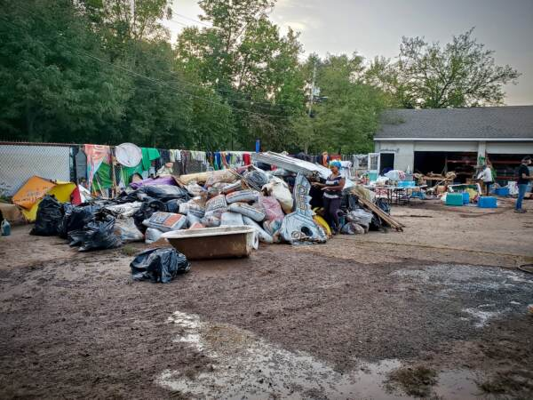 At its storage unit in Mont Clare, Pa., just outside Phoenixville, Spiral Q lost 80 percent of its 25-year archive of community puppet activism