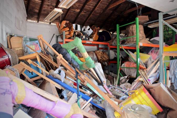 Hurricane Ida flooded the Spiral Q storage space with seven feet of water, destroying most of their archive of papier mâché puppets
