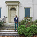 David Rose on the steps of the Black Writer's Museum