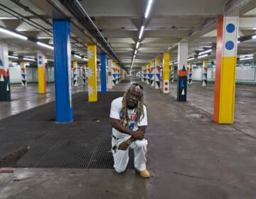 Alvin Tull is a Lead Muralist and Lead Teaching Artist with the Mural Arts Program in Philadelphia. He worked with artist Lauren Cat West to create the Lovely Day mural, which covers 200 columns at the SEPTA concourse between City Hall and Walnut Streets