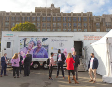 Penn Medicine's mobile mammography unit offered free breast cancer screenings to women over the age of 40 in a North Philadelphia parking lot on Oct. 22, 2021