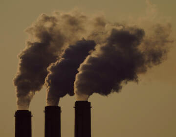 Emissions rise from the smokestacks at the Jeffrey Energy Center coal power plant