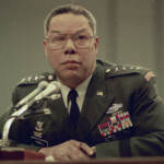 Gen. Colin Powell is seen in military uniform