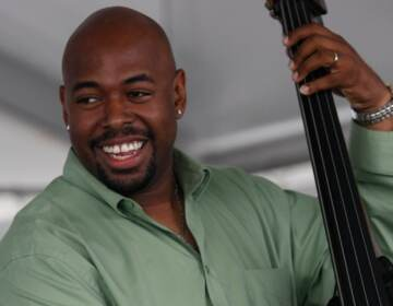 Christian McBride performs at George Wein's Carefusion Newport Jazz 55 in Newport, R.I. on Sunday, Aug. 9, 2009.