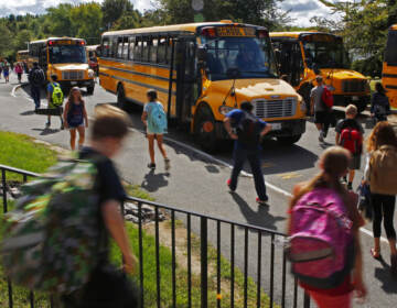 A shortage of school bus drivers in some communities across the country is causing headaches for school districts this fall. (AP Photo/Robert F. Bukaty)