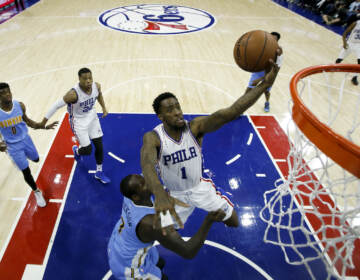 FILE - Philadelphia 76ers' Tony Wroten in action during an NBA basketball game against the Denver Nuggets, Saturday, Dec. 5, 2015, in Philadelphia