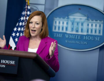 White House press secretary Jen Psaki speaks during a press briefing at the White House, Friday, Oct. 22, 2021, in Washington