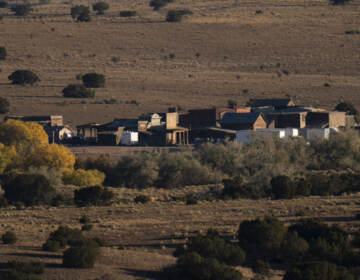 The Bonanza Creek Film Ranch is seen in Santa Fe, N.M., Saturday, Oct. 23, 2021