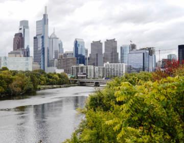 A photo of the Philadelphia skyline taken in October, 2021