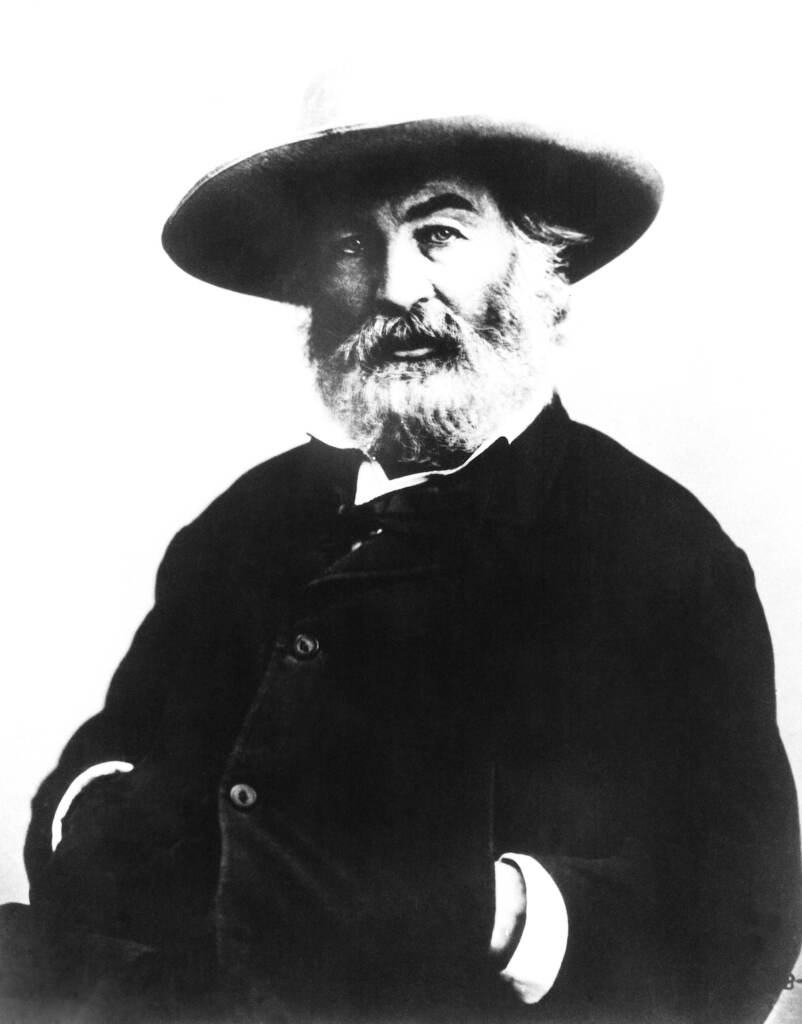 An undated photo of American poet Walt Whitman who died on March 26, 1892