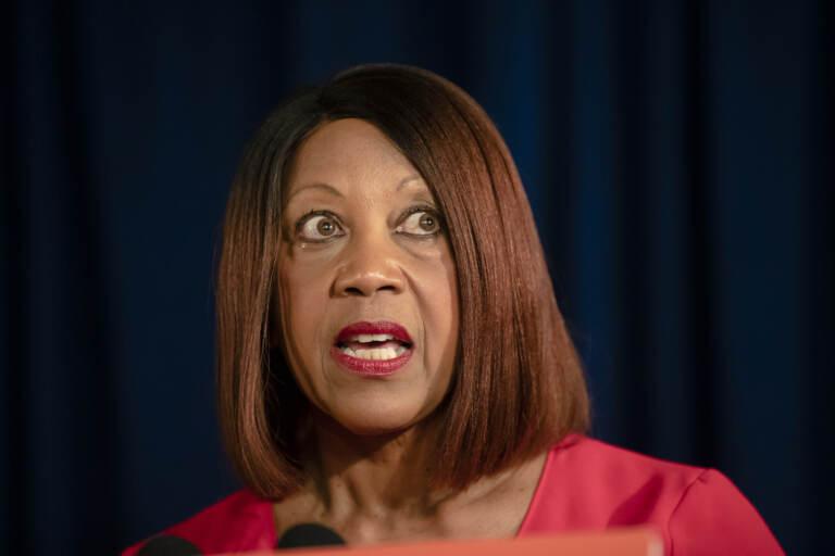 A closeup of Lt. Gov. Sheila Oliver