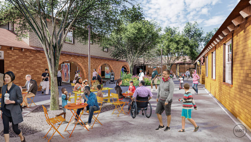 Artist's rendering of the newcourtyard