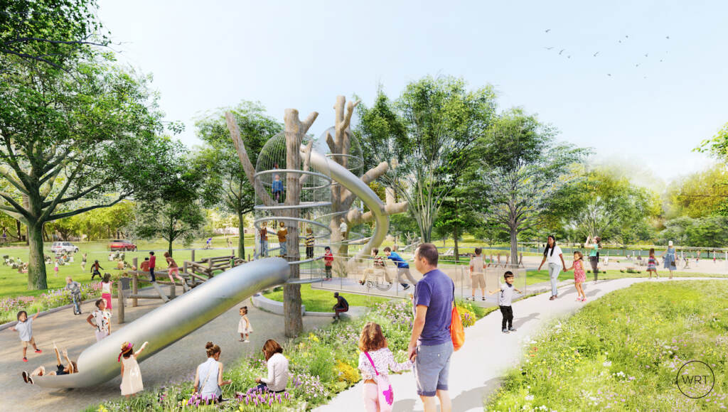 Artist's rendering of the new place space in FDR Park