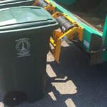 A Baltimore city trash bin